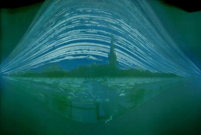 Six-Month-Long Camera Exposure Shows Both Winter and Summer Solstices