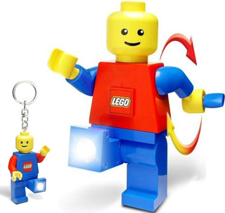 7-inch Lego Dynamo Flashlight Stomps All Minifig Keychains