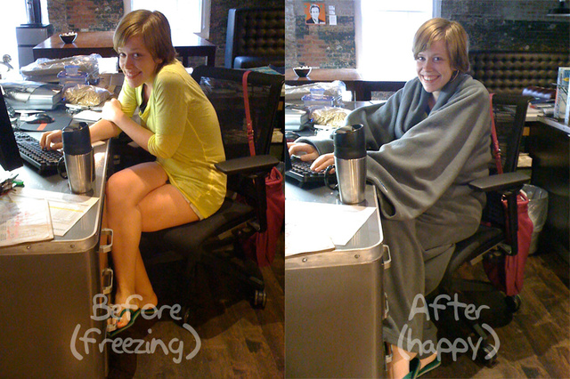 This Is How Office Assistants In Tiny Shorts Fight Freezing Summertime AC