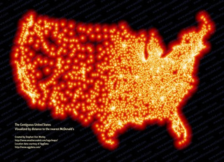 13,000 McDonald's Locations Visualized As They Sink US Into Ocean