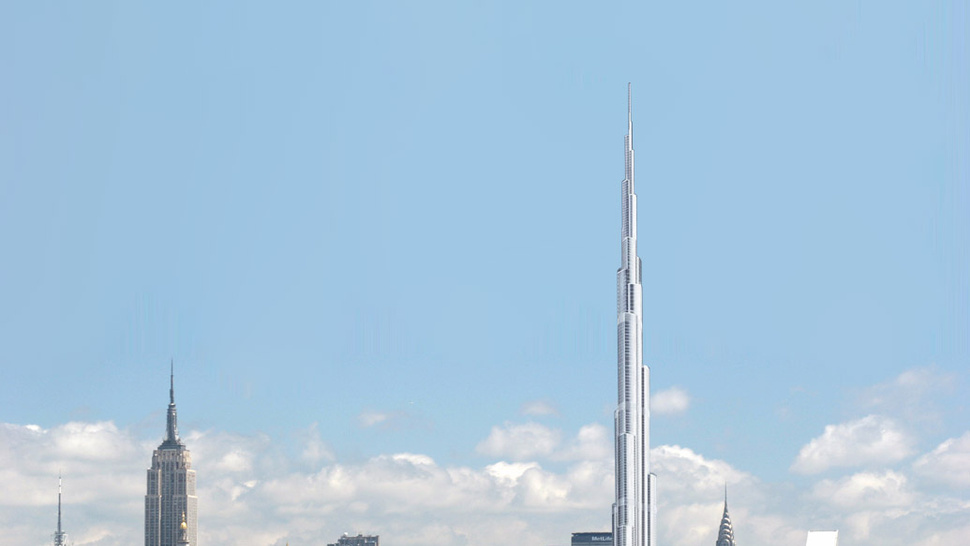 This Is What the Burj Dubai Would Look Like in Midtown Manhattan