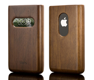 Solid Hardwood Vers iPhone Case Has Time Window