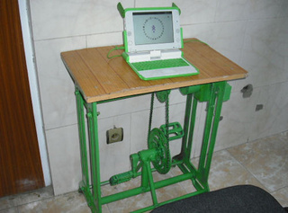 Pedal-Powered OLPC Tested in Afghanistan: Free Power (and Killer Calves) For All