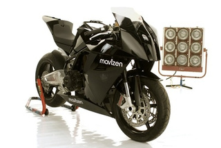 Mavizen's 130 mph Electric Motorcycle Has Built-In Web Server, WiFi and Linux