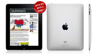 Sign up for the Gizmodo Newsletter, Win an iPad