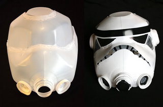 This Stormtrooper Helmet Was Made With Two Milk Jugs