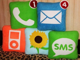 It Took This Long To Make iPhone Icon Pillows?