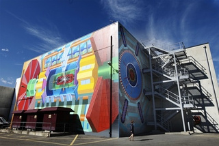 Artist Unearths Large Hadron Collider WIth Psychedelic Mural