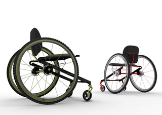Lightweight Wheelchair Designed For Man With One Limb