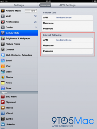 The iPad 3G Might Get A Tethering Feature?
