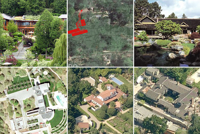 The Mansions of Modern Tech Giants