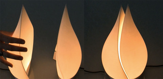 Romantic Lamp That Splits in Two Glows Brighter When Both Are Switched On