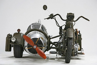 Sidecar Made From WWII German Fighter Plane and Yamaha Motorbike Is Crazy-Cool