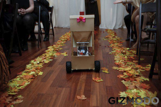 Robot Flower Girl Looks Adorable In Pink