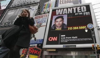 Times Square's Newest Video Billboard Stars FBI's Most Wanted