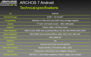 Archos 7 Android Tablet Leaked, Featuring Webcam For Video Chat and New 7-Inch Size