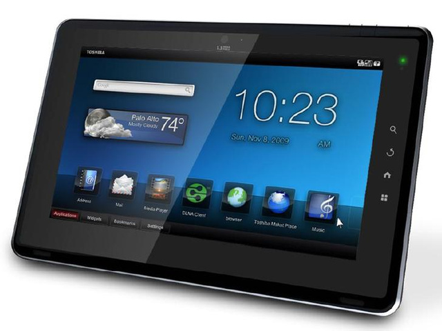 Toshiba Folio Android Tablet Official Details