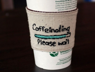 Let Your Boss Know Your Caffeination Status with this Coffee Cosy