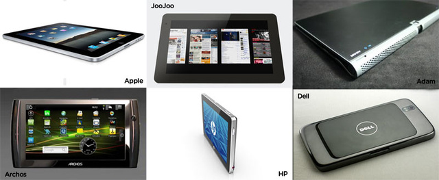 Slate Showdown: iPad vs. HP Slate vs. JooJoo vs. Android Tablets & More (UPDATED)