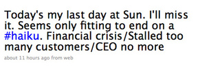 Sun CEO Tweets Resignation in Haiku