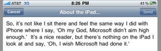 "Bill Gates on the iPad: ""It's a Nice Reader, But..."""