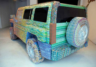 This is What $39k Worth of Recycled Lottery Tickets (and Dreams) Looks Like