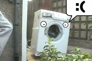 Brick Meets Washing Machine, This Time With Emotion