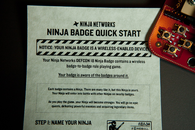 Defcon Ninja Badge Gallery