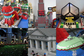 Marvel at Futurama's New New York in Lego