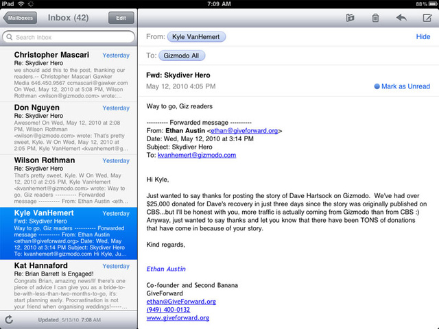 New MobileMe Mail Looks Just Like iPad Mail