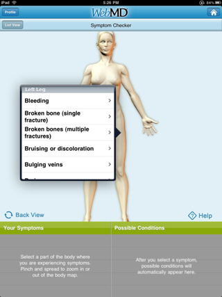WebMD iPad App Is A Hypochondriac's Nightmare