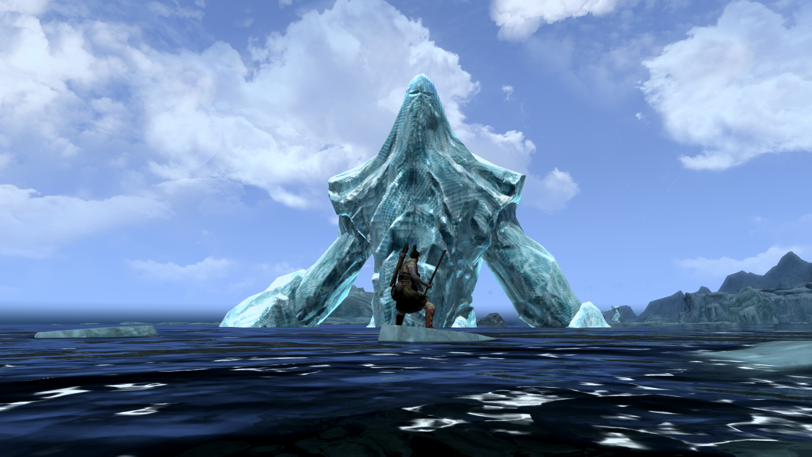 Skyrim Gets Gia... Giant Sea Monster Skyrim
