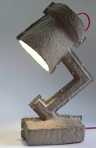 Four Egg Cartons Form This Cute Desk Lamp