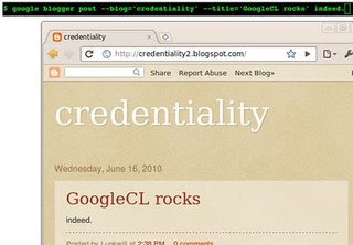 Google's Command Line Tool Reconciles Web App Convenience and Geek Credibility