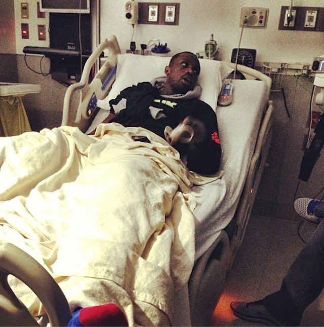 Here's Luol Deng Cheering On His Team From A Hospital Bed