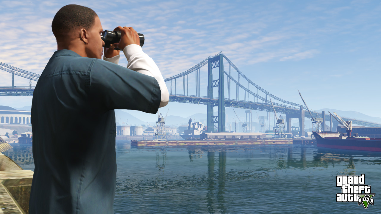 Getting a subtle glimpse of san fierro in grand theft auto v but now