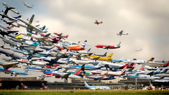 This Amazing Multiple Exposure Hannover Airport Takeoffs Photo Is Not Real