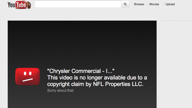 Why Did The NFL Make YouTube Pull Down Chrysler's Clint Eastwood Super Bowl Ad?