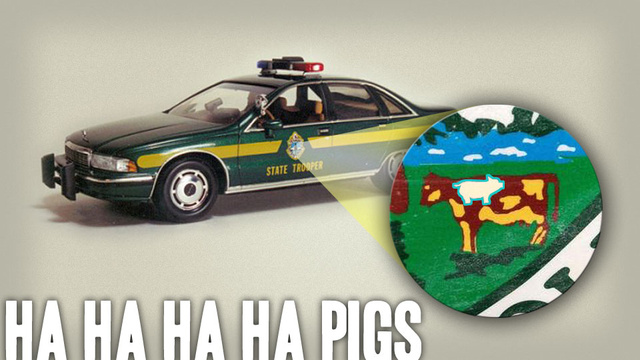 Vermont Prisoner Sneaks Pig Onto Cop Cars In Genius Prank