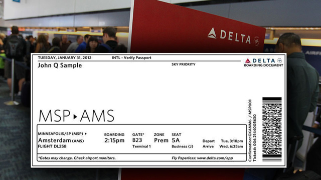 The New Delta Boarding Pass Is Easy To Read