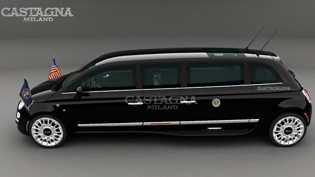 Italians Think America Wants A 17-Foot Fiat 500 Limo