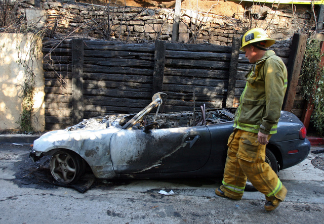 Los Angeles Car Fires Arson