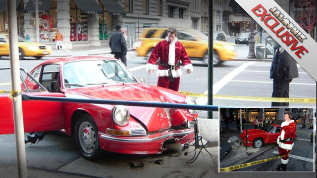 I'm the Santa who crashed my vintage Porsche on Christmas in New York City