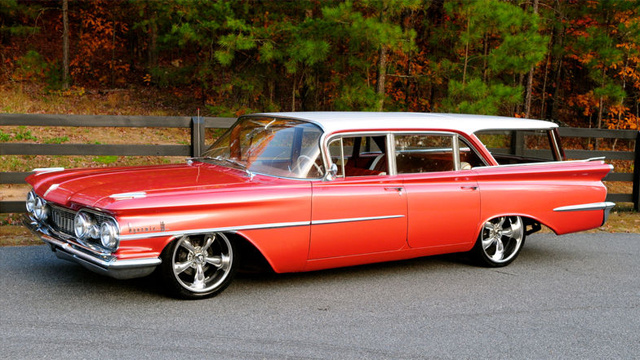 1959 Oldsmobile station wagon is strangely beautiful