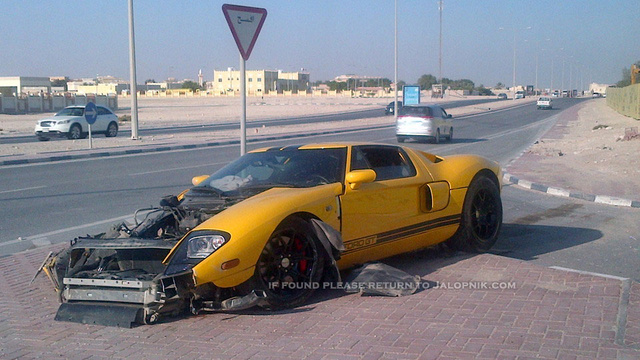 This Ford GT was destroyed in a Qatar qrash