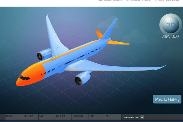 Configure your own Boeing 787 Dreamliner