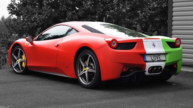 italian flag wrapped ferrari 458 is a bit much. Cars Review. Best American Auto & Cars Review