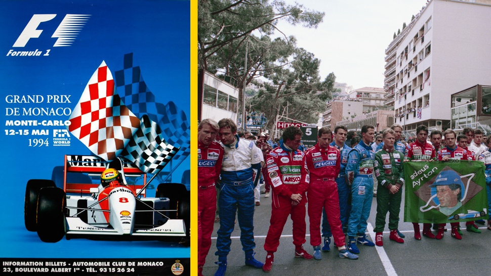 The saddest poster for the Monaco Grand Prix