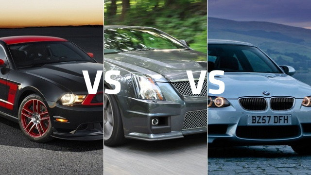 Ford Mustang Boss 302 vs Cadillac CTS-V coupe vs BMW M3: Which to buy?