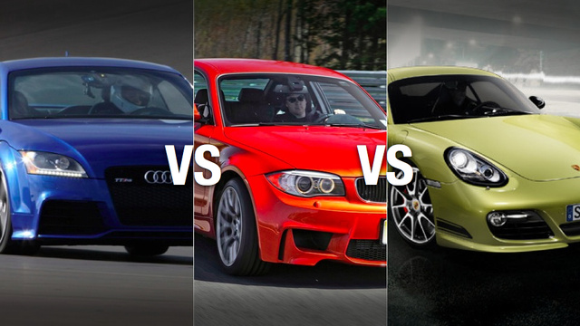 BMW 1M vs Porsche Cayman R vs Audi TT RS: Which to buy?